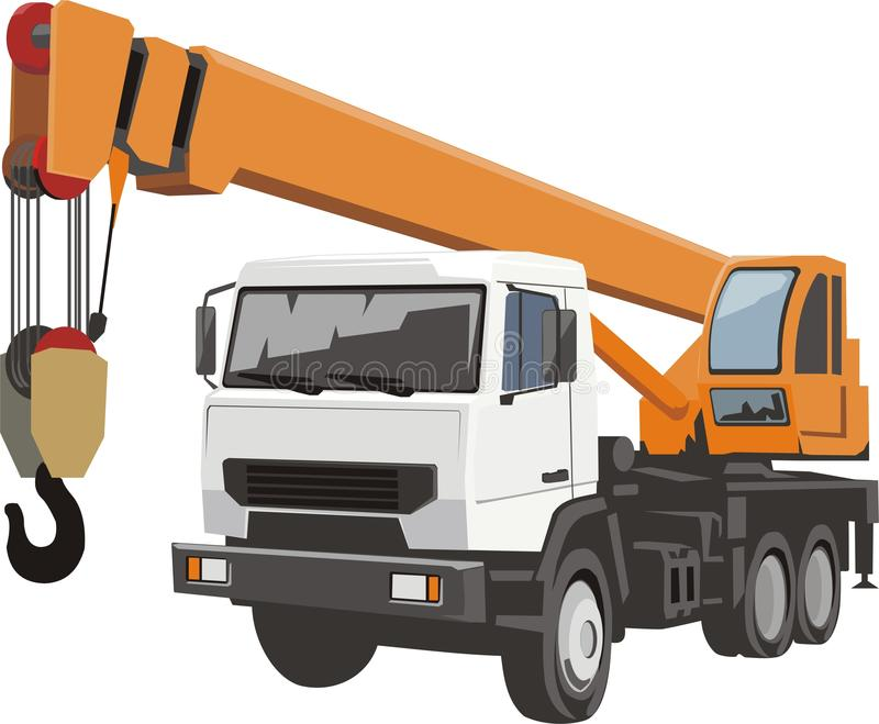 Download Auto crane stock vector. Image of cabin, drive, rope - 13378260