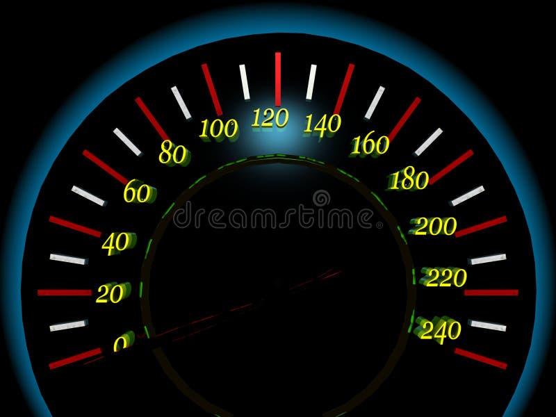 Auto dashboard stock illustratie