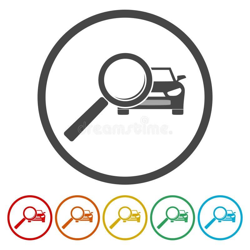 Auto de dienstpictogrammen, de pictogrammen van de autodienst stock illustratie