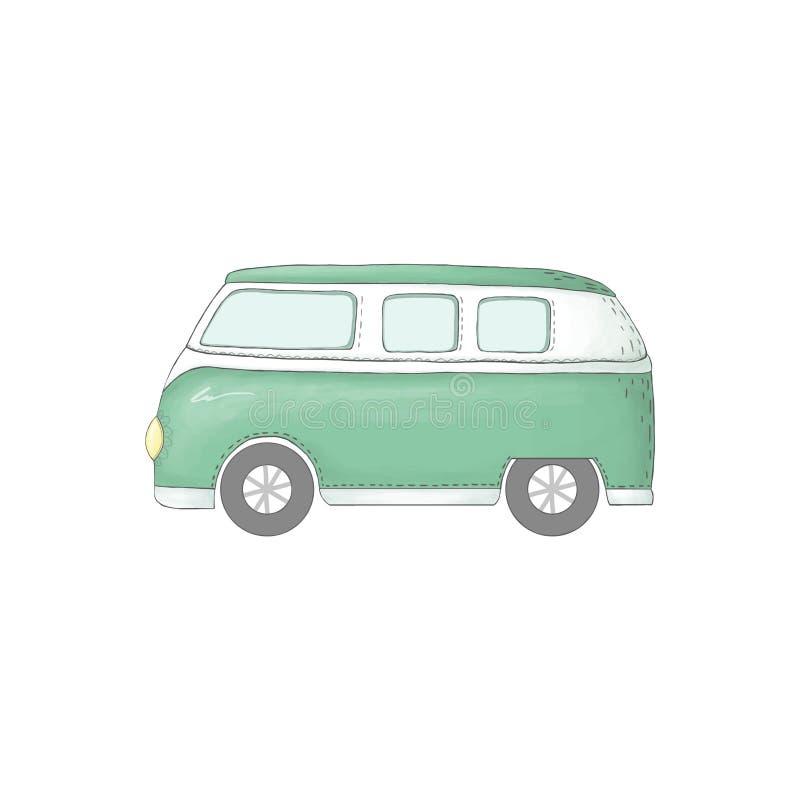 Auto auto de la paz del transporte del ejemplo del clip art del coche en el fondo blanco stock de ilustración