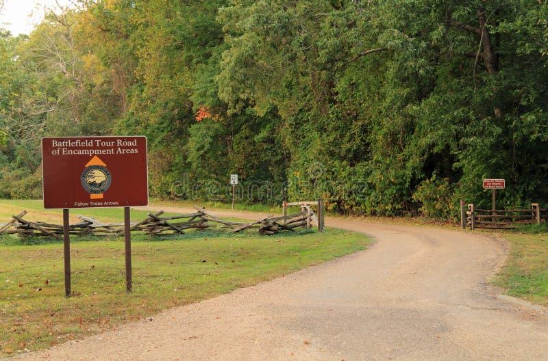 Auto de Reisweg van het Yorktownslagveld stock fotografie