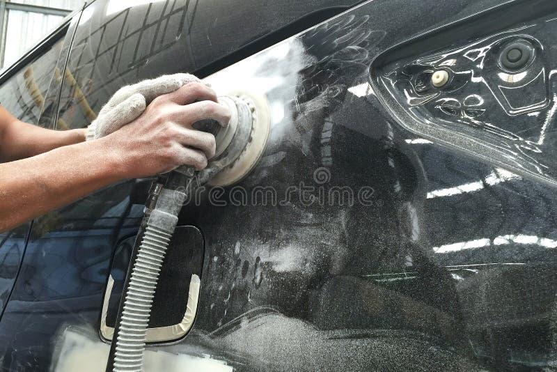 Auto de Reparatieverf van de autocarrosserie na het ongeval royalty-vrije stock foto
