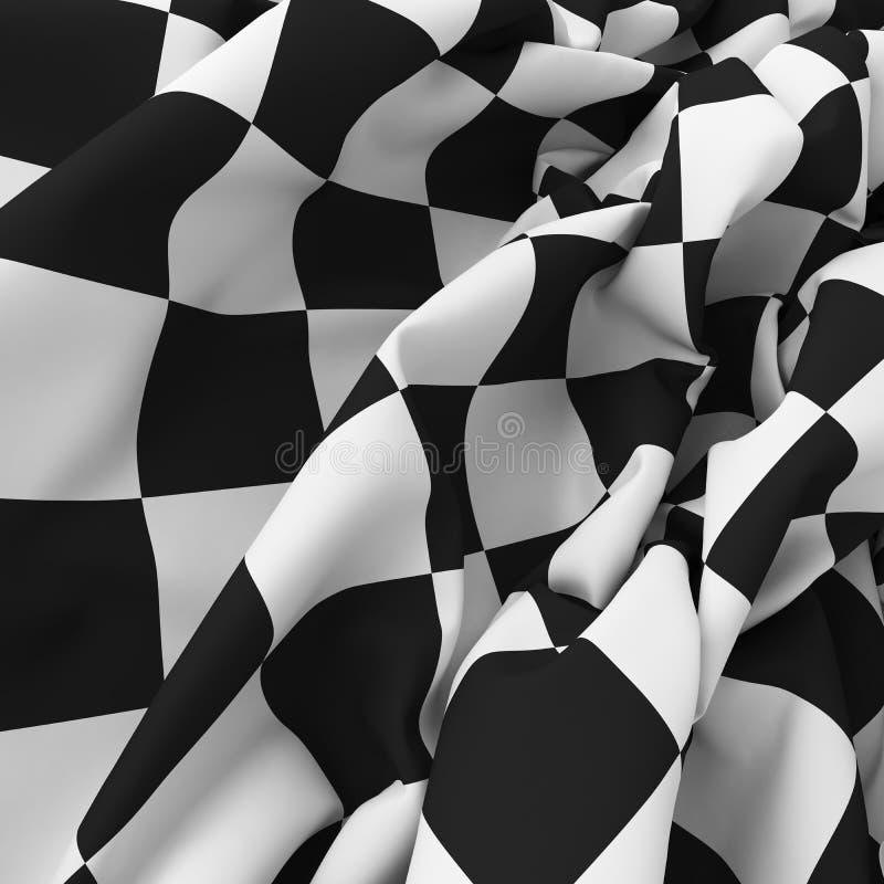 Auto de vlagachtergrond van het sportnet stock illustratie