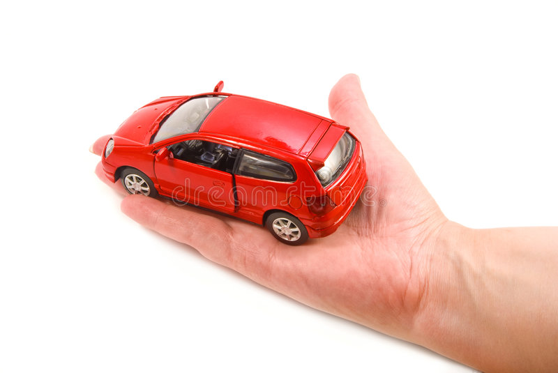 Auto in der Hand lizenzfreie stockbilder