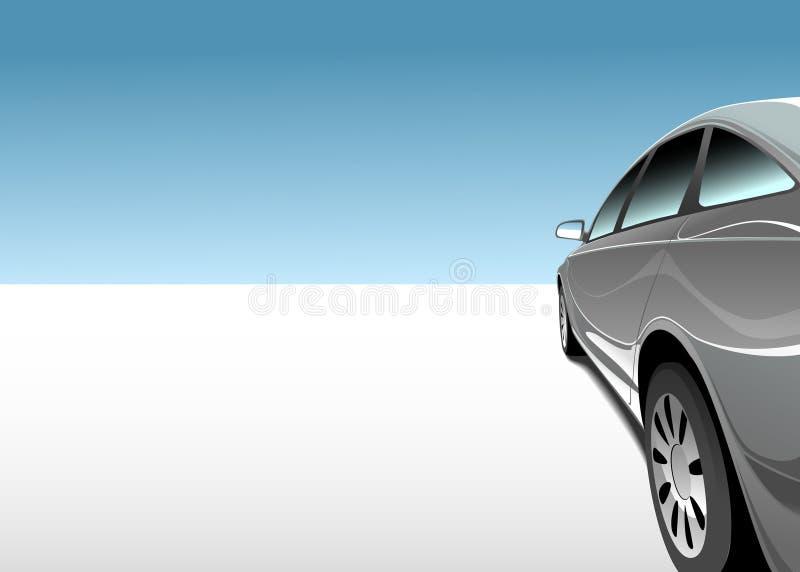 Auto in der Wüste vektor abbildung