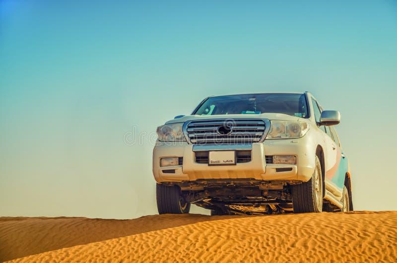 Auto desert safari royalty free stock photo