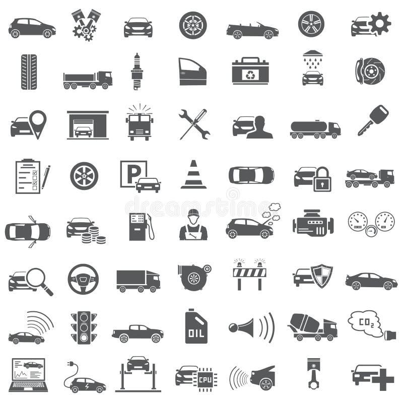 auto designsymboler ställde dig in royaltyfri illustrationer