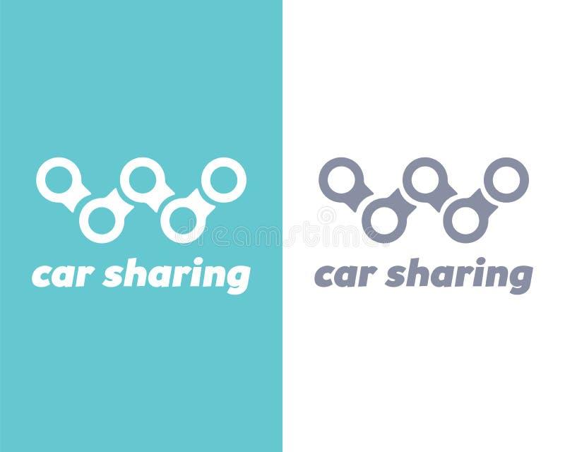 Auto die embleem delen Vector illustratie stock illustratie