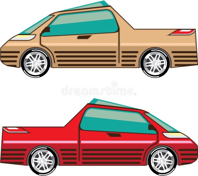 Auto do vetor do carro do conceito que conduz o veículo ilustração stock