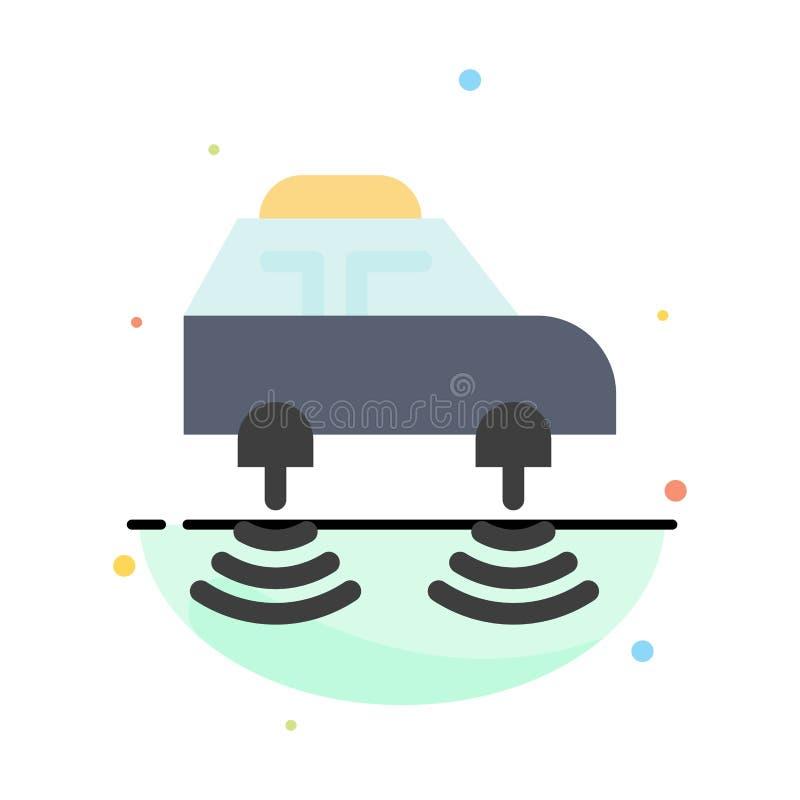 Auto, elektrisch, Netz, Smart, wifi Zusammenfassungs-flache Farbikonen-Schablone vektor abbildung