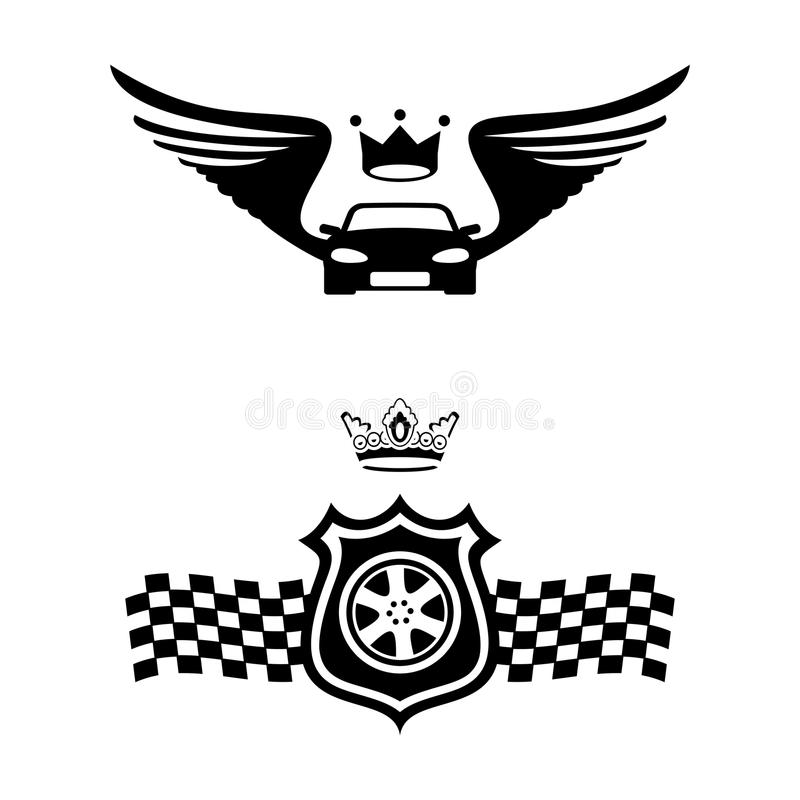 auto emblematy ilustracja wektor