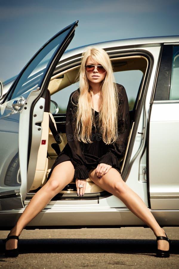Auto en babe stock foto