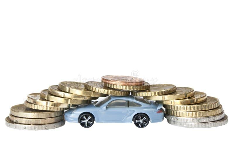 Auto en geld stock afbeeldingen