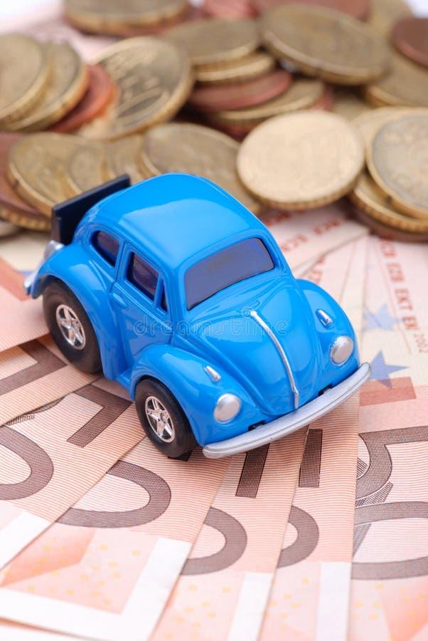 Auto en geld stock afbeelding
