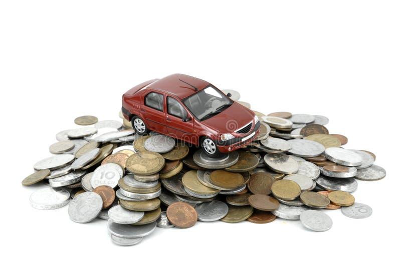Auto en geld stock foto's