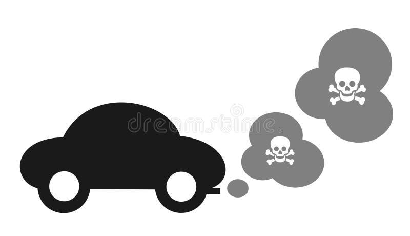 Auto en giftige uitlaat stock illustratie