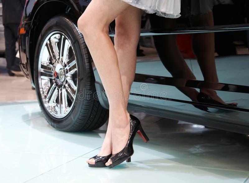 Auto en model royalty-vrije stock afbeelding