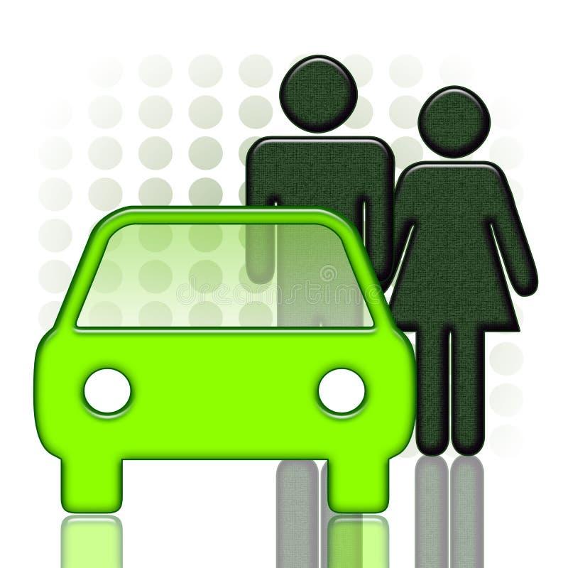 Auto en Paar vector illustratie