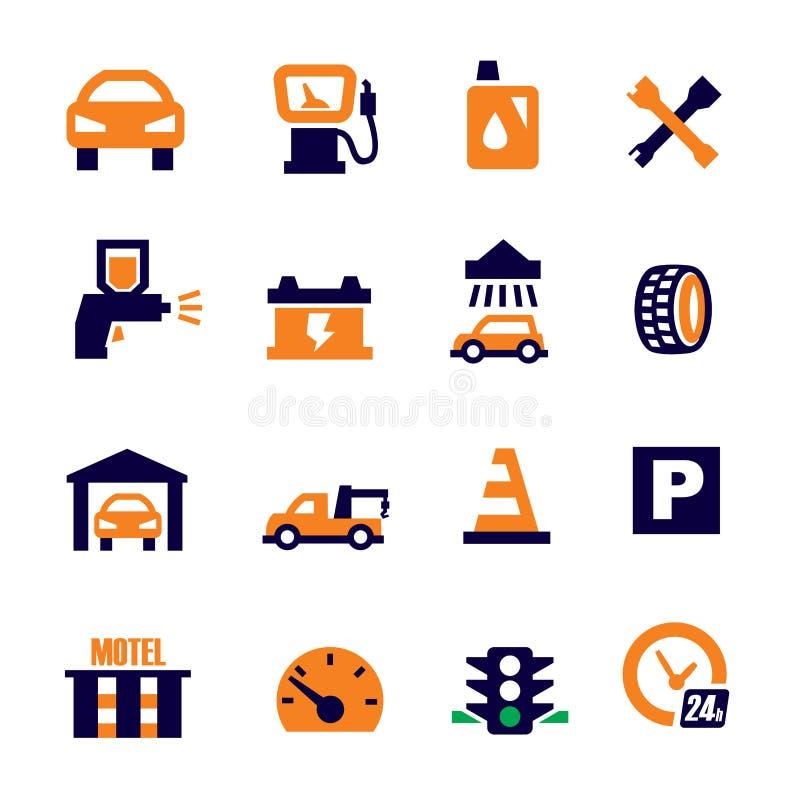 Auto en reparatie stock illustratie