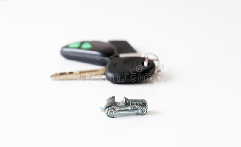 Auto en sleutels royalty-vrije stock afbeelding