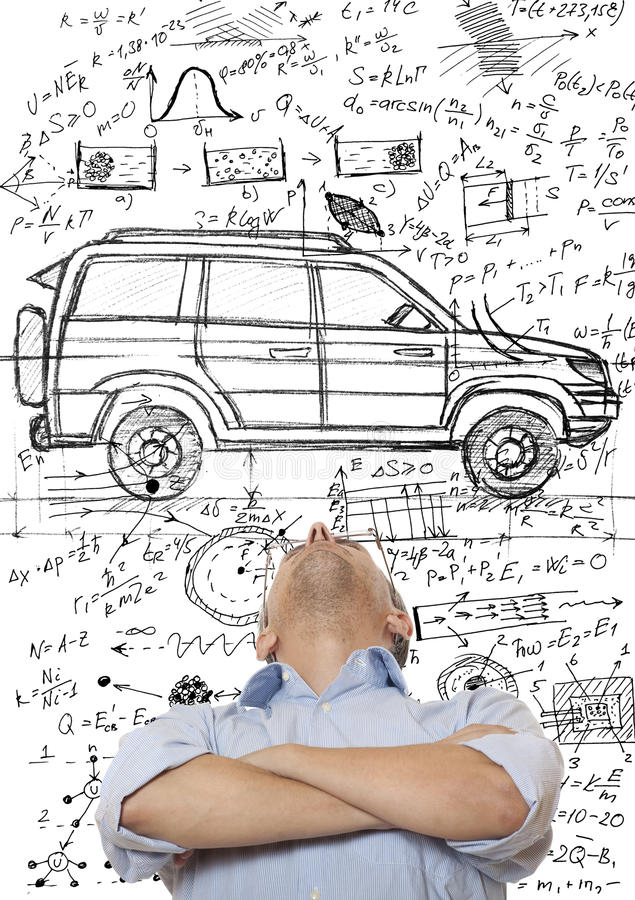 Auto-Entwerfer stockbilder