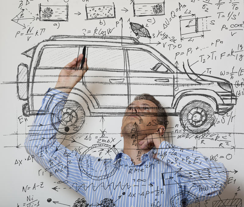 Auto-Entwerfer lizenzfreie stockbilder