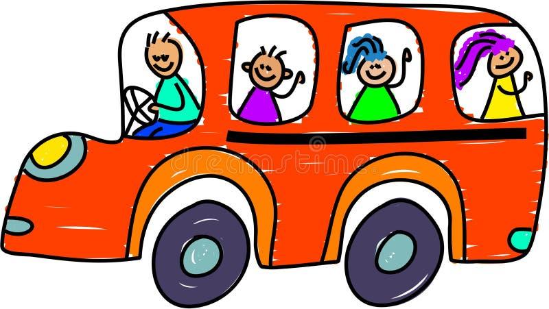 Auto escolar ilustração royalty free