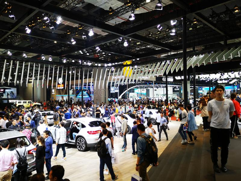 Shanghai auto exhibition in 2019 royalty free stock image