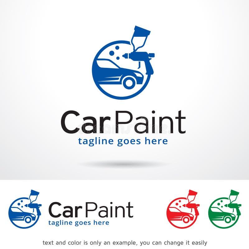 Auto-Farbe Logo Template Design Vector stock abbildung