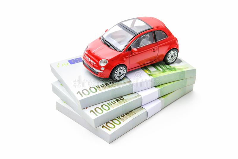 Auto finances. Car and money. Rent, buy or insurance car concept stock images
