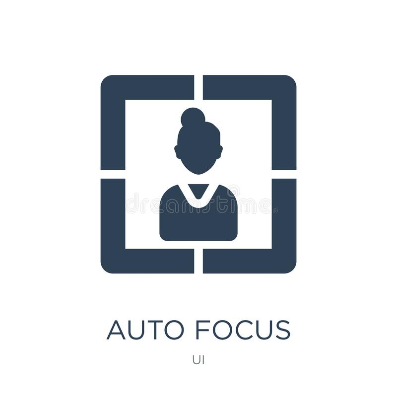 auto focus icon in trendy design style. auto focus icon isolated on white background. auto focus vector icon simple and modern vector illustration