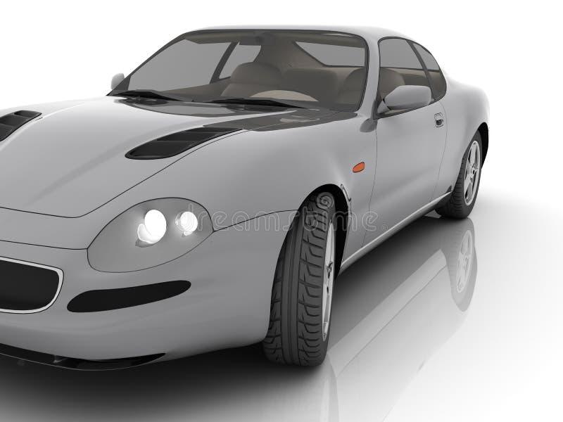 Auto in geïsoleerdeg studio royalty-vrije illustratie