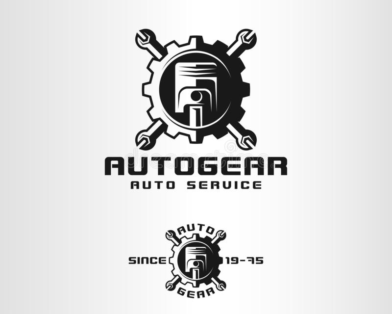 Auto Gear - Auto Service Logo royalty free illustration
