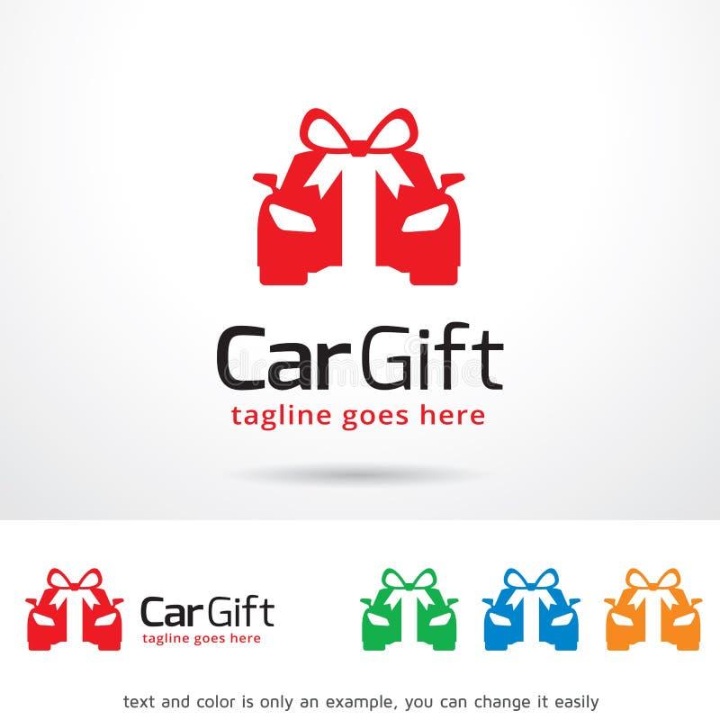 Auto-Geschenk Logo Template Design Vector lizenzfreie abbildung