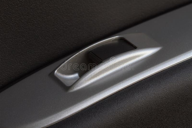 Auto glass control button of car. Close up Auto glass control button of car, Safety Concept royalty free stock images