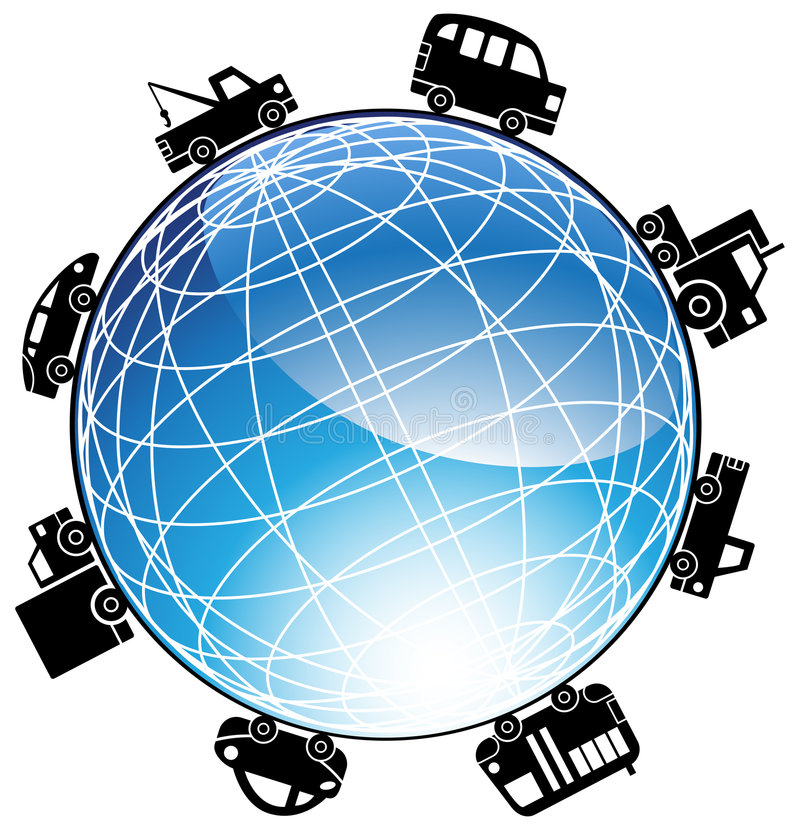 Download Auto Globe Icon stock vector. Illustration of crossing - 9299253