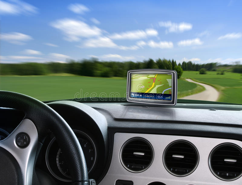 Auto gps navigator stock afbeelding