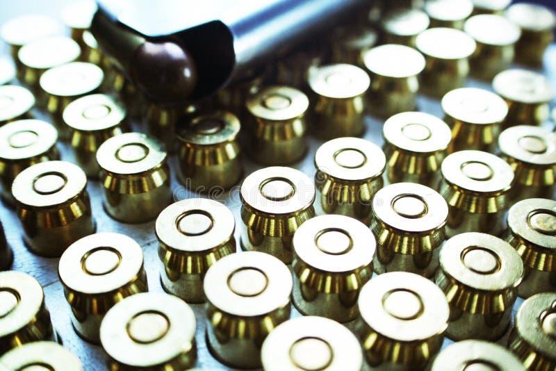 45 Auto Handgun Bullets With Magazine High Quality stock photography