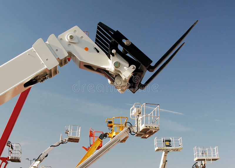 Auto hoist and fork lift royalty free stock image