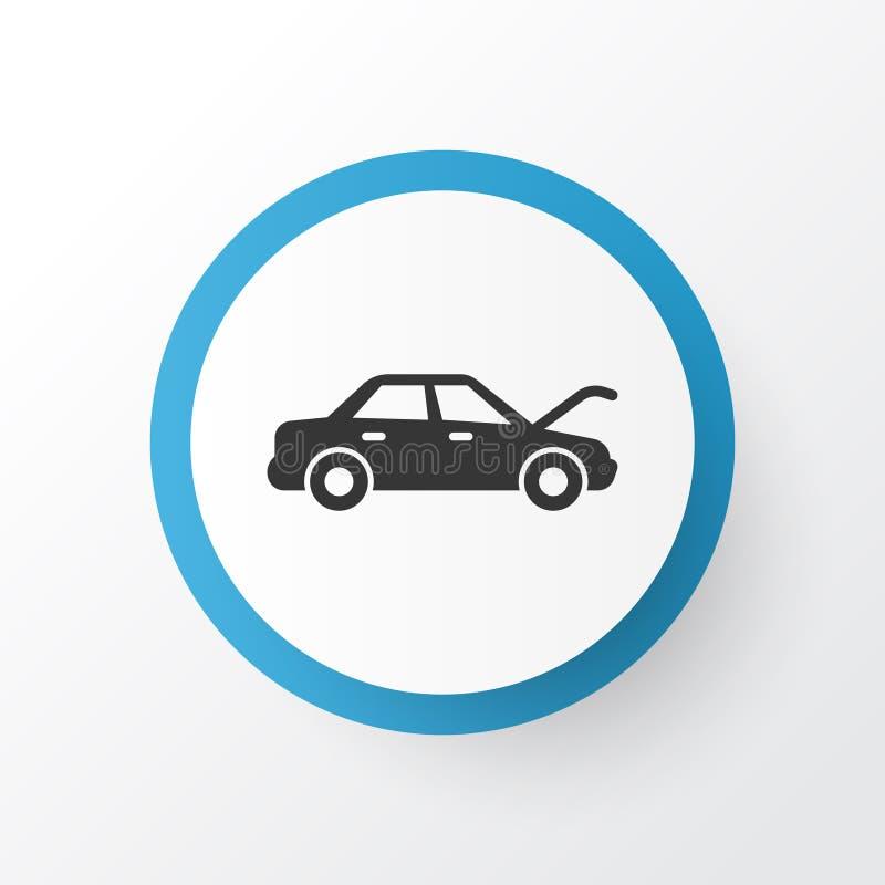 Auto Hood Icon Symbol Qualidade superior elemento de fixação isolado no estilo na moda ilustração stock