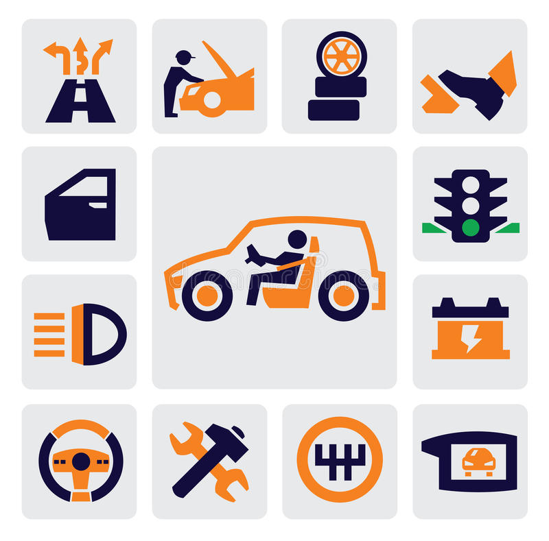 Download Auto icons stock vector. Illustration of mechanical, pictogram - 27071651