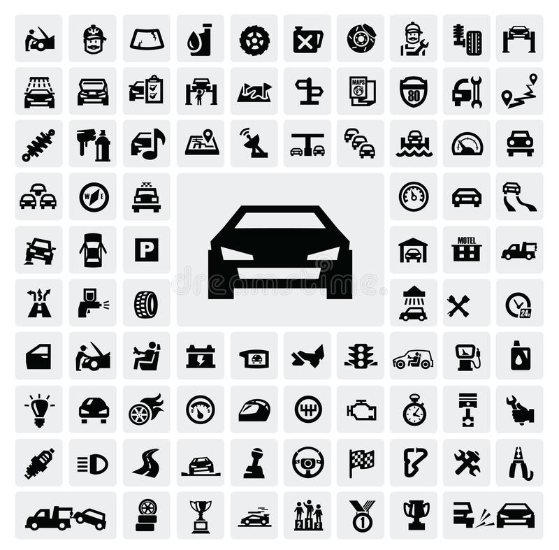 Free Auto Icons Royalty Free Stock Photography - 28175287