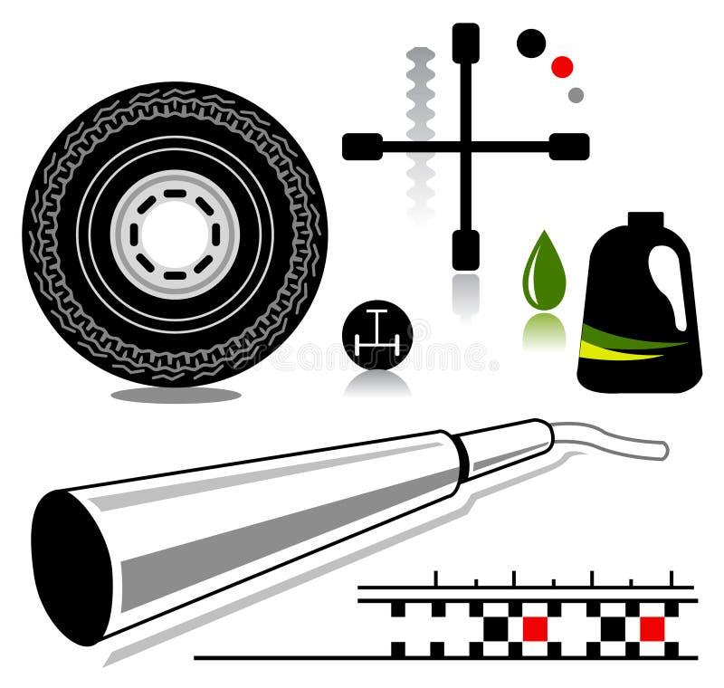 Auto icons royalty free illustration