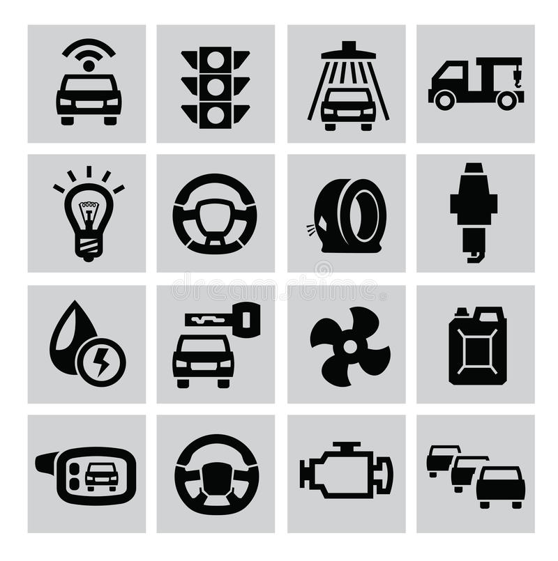 Download Auto icons stock vector. Illustration of pictogram, service - 33531571