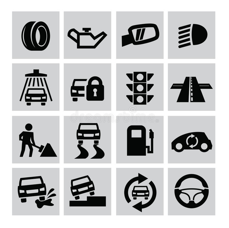 Download Auto icons stock vector. Image of bulb, light, tyre, automotive - 33577223