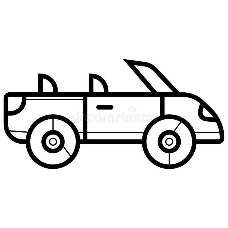 Auto-Ikonen-Vektor stock abbildung