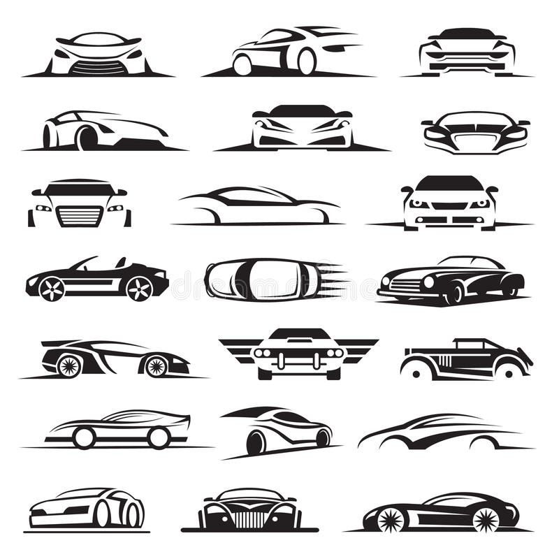 Auto-Ikonensatz lizenzfreies stockfoto