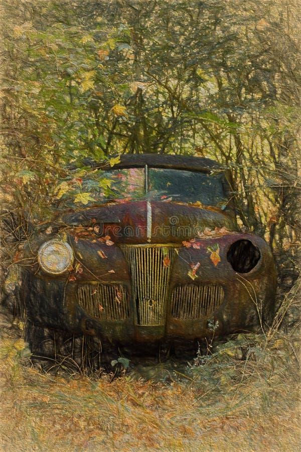 Auto im Holz stockbilder