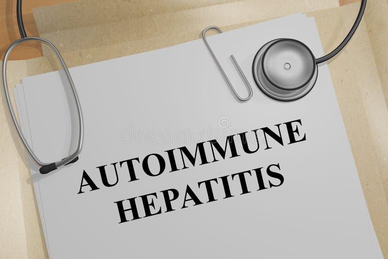 AUTO-IMMUUN HEPATITISconcept vector illustratie