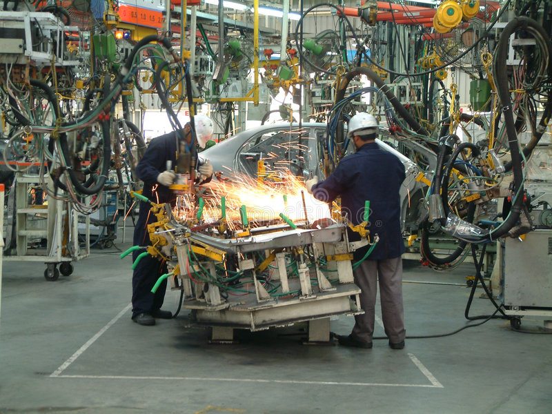 Auto Industrie stock afbeelding